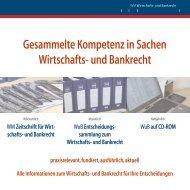 Gesammelte Kompetenz in Sachen Wirtschafts- und Bankrecht