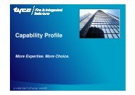 Capability Profile - tyco fire & integrated solutions: red liv nu