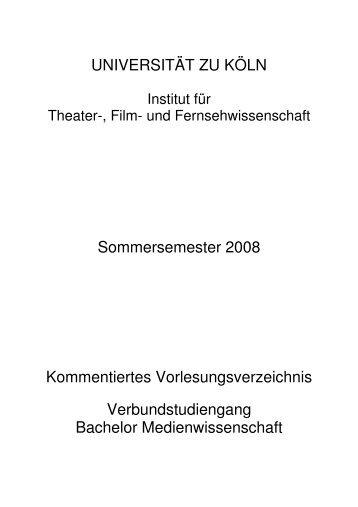 Basismodul 2 - Institut für Theater-, Film - Universität zu Köln