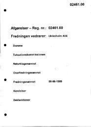 Afgørelser - Reg. nr.: 02461.00 Fredningen vedrører: Ulriksholm Alle ...