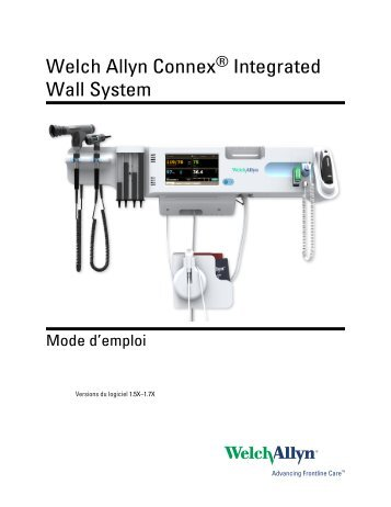Welch Allyn Connex® Integrated Wall System Mode d'emploi