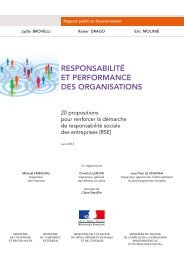 responsabilité et performance des organisations - Ministère du ...