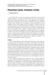 Primavera araba: speranze e paure - Pontifical Academy of Social ...