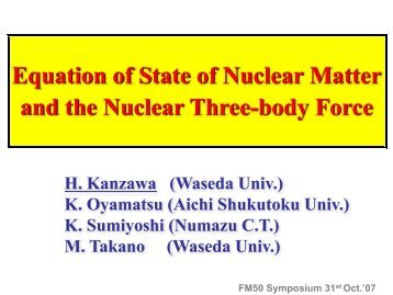 Equation of state of nuclear matter and the nuclear three-body force