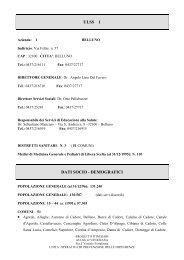ULSS 1 DATI SOCIO - DEMOGRAFICI - Dronet