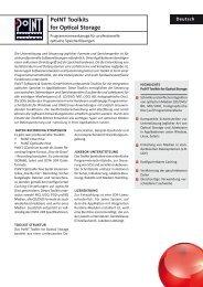 Datenblatt: PoINT Toolkits for Optical Storage ...