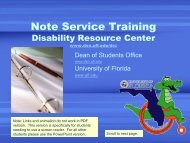 Note-Service Training Presentation - Dean of Students Office ...