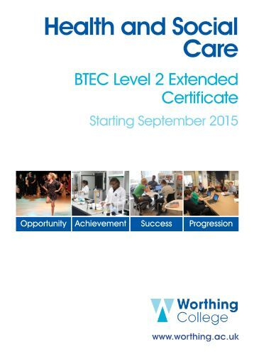 btec level 2 diploma in health Btec level 2 extended certificate in health & social care based in kingston,  south west london.