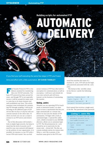 Building scripts for automated FTP - Linux Magazine