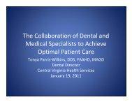 Dental/Medical Collaboration - Virginia Health Care Foundation