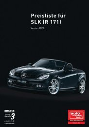 Preisliste für SLK (R 171)