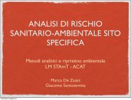 Analisi di Rischio - Dipartimento di Scienze Chimiche
