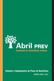 Estatuto e Regulamento do Plano de Benefícios - AbrilPREV