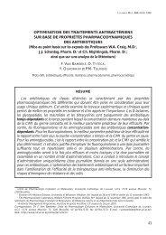 43 OPTIMISATION DES TRAITEMENTS ANTIBACTÉRIENS SUR ...
