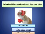 Behavioral Phenotyping of Ahi1 Knockout Mice