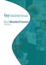 OurMasterClasses.pdf - CRC for Irrigation Futures