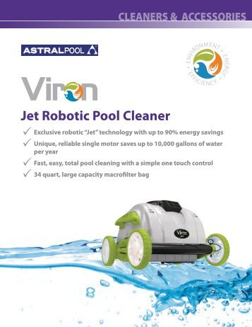 APV-106 Viron Jet Robotic Pool Cleaner.pdf - Astral Pool USA