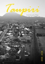 Taupiri Community Plan - Waikato District Council