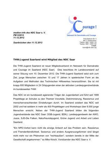 THW-Jugend Saarland wird Mitglied des NDC Saar Die THW ...