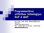 Programmatūras attīstības tehnoloģijas. RUP & MSF