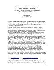 1 Bildung zwischen Ökonomie und Technologie Homo Sapiens im ...