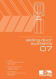 Sliding door systems - National Glass