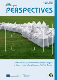 Sustainable agriculture in the Baltic Sea Region in ... - EcoRegion