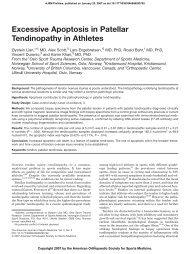 Excessive Apoptosis in Patellar Tendinopathy in Athletes