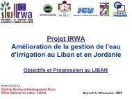 Amélioration de la gestion de l'eau d'irrigation au Liban et ... - emwis