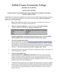 Licensing Application Instructions - Suffolk County Community College