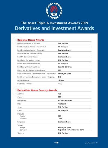 Derivatives and Investment Awards - The Asset