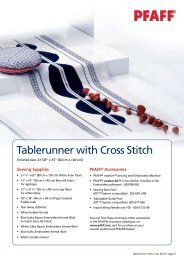 Tablerunner with Cross Stitch - Pfaff