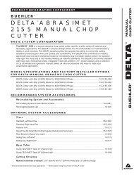 DELTA™ ABRASIMET 2155 MANUAL CHOP CUTTER