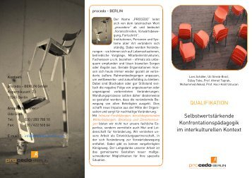 Faltblatt - PROCEDO BERLIN