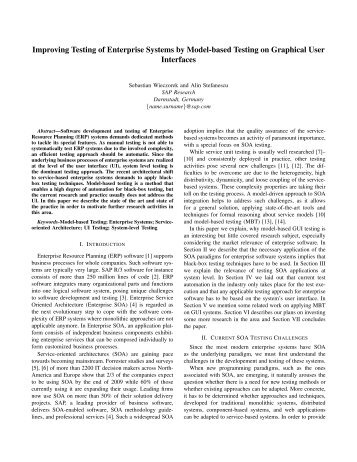 Improving Testing of Enterprise Systems by Model-based Testing on ...