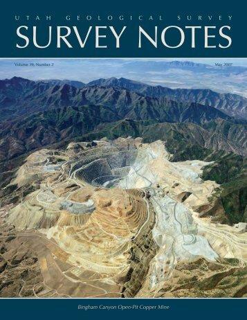 May 2007 Survey Notes - Utah Geological Survey - Utah.gov