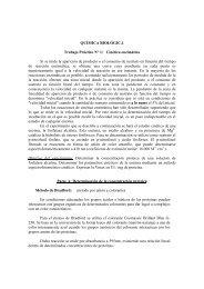 QUÍMICA BIOLÓGICA Trabajo Práctico N° 1: Cinética enzimática Si ...