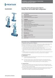 Cast Gate Valves Pressure Seal -Style A- Wedge Gate and ... - Pentair