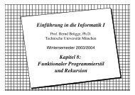 Einführung in die Informatik I Kapitel 8: Funktionaler Programmierstil ...
