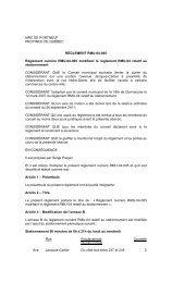 MRC DE PORTNEUF PROVINCE DE QUÉBEC RÈGLEMENT RMU ...