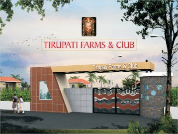 Tirupati Farms - Real Estate India