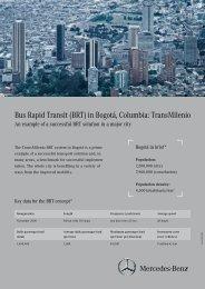 Bus Rapid Transit (BRT) in Bogotá, Columbia: TransMilenio
