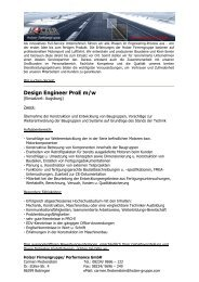 Design Engineer ProE m/w - Holzer Motorsport