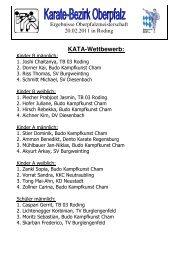 Ergebnisliste Bezirksmeisterschaft 2011