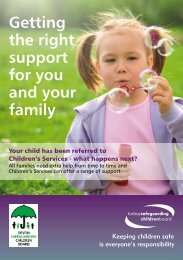 Getting the right support for you and your family.