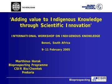 Bioprospecting - World Bank