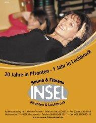 20 Jahre in Pfronten · 1 Jahr in Lechbruck - Sauna und Fitnessinsel ...