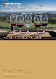 WINES AND SPIRITS COURSES - HKU School of Professional and ...