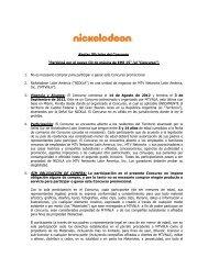 """Reglas Oficiales del Concurso """"Participá por el ... - Mundonick.com"""