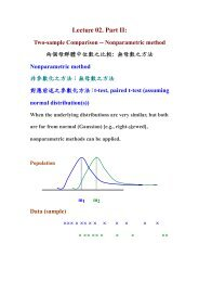 Lecture 02. Part II: Two-sample Comparison -- Nonparametric method